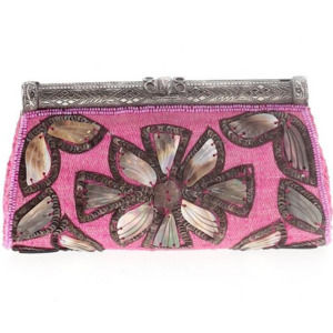 NEW RARE AUTHENTIC  MOYNA Boho Embellished Clutch